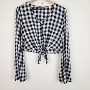 Wild Fable Bell Sleeve Cropped Blouse